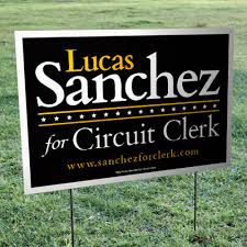 Wire Mounted Lawn Sign