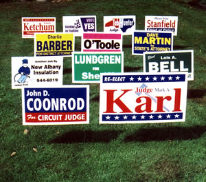 Political Lawn Signs