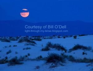 Moonrise over White Sands